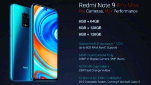 Redmi Note 9 Pro Max price in india